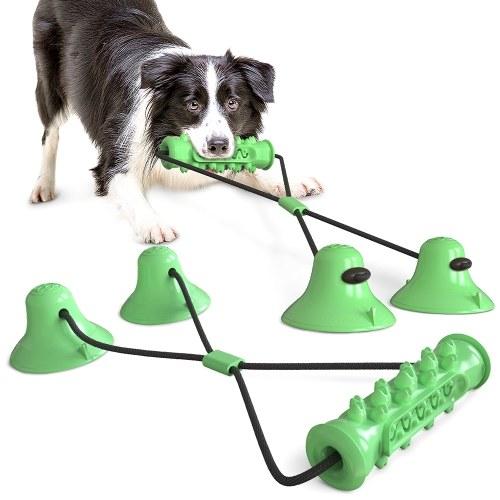 """Pet Dog Molar Bite Chew Toy Интерактивная игрушка """"Собачья веревка"""" с присоской для чистки жевательных зубов"""