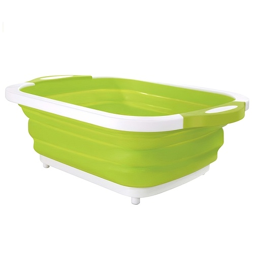 2 em 1 placa de desbastamento dobrável da bacia de lavagem do prato
