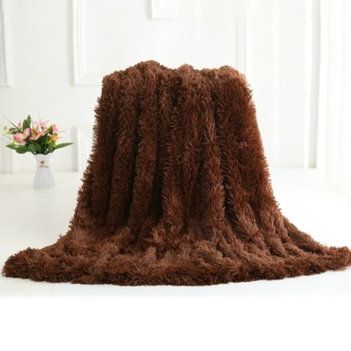 Long Fur Throw Blanket Superweiches langes, zotteliges Kunstfell