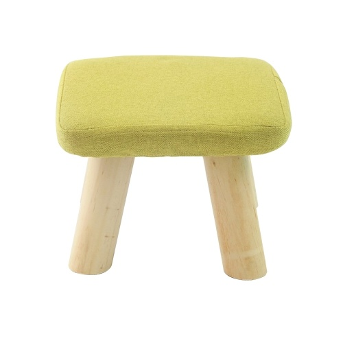 Rest Folding Storage Footrest Seat Stool with Removable Cover