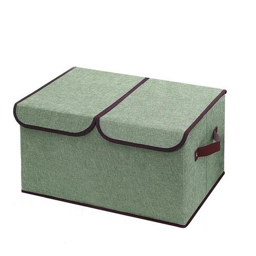 Double-Cover Dual Cap Storage Box