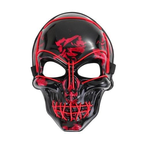 Light Up LED Skeleton Skull Mask