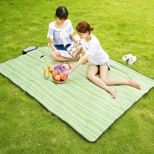 200×150cm / 78×59in Outdoor Picnic Mat Waterproof Wearproof Oxford Fabric Camping Blanket Sand Proof Beach Rug Pad