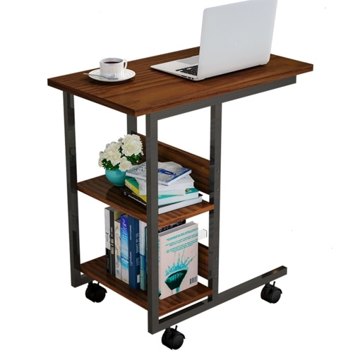 Simple Multi-functional Moveable Coffee Side End Table 3-Tier Storage Table
