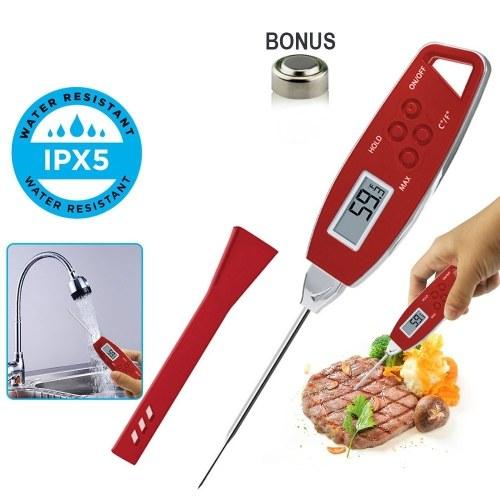 Sofort gelesenes Fleischthermometer Wasserdichtes Grillthermometer Pen-Probe Lebensmittelthermometer für die Küche Kochen im Freien BBQ Rauchermilch