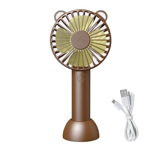 Ventilador de mano con base Mini ventilador portátil Ventilador de escritorio personal de 3 velocidades y bajo nivel de ruido para viajes Camping Oficina Hogar USB Alimentado por ventilador de escritorio