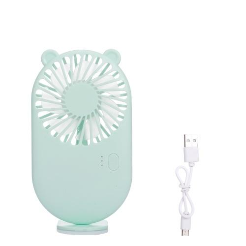 Ventilador de bolsillo Ventilador de mano portátil Mini ventilador con carga USB 3 velocidades ajustable para viajes Oficina Habitación Hogar