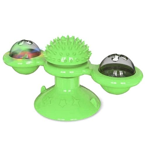 Outils de friction pour animaux de compagnie jouet moulin à vent tourné