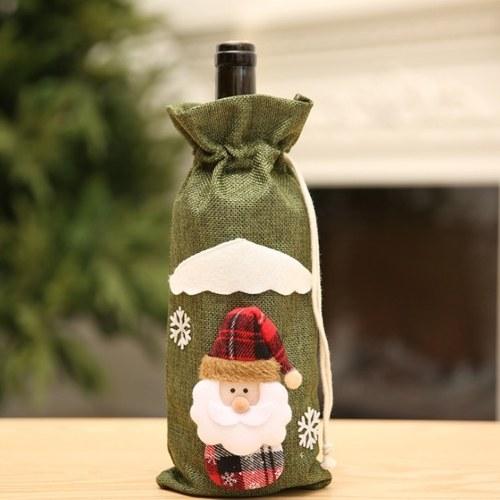 Tampa de garrafa de vinho de Natal tampa de suporte de garrafa de champanhe padrão de Papai Noel