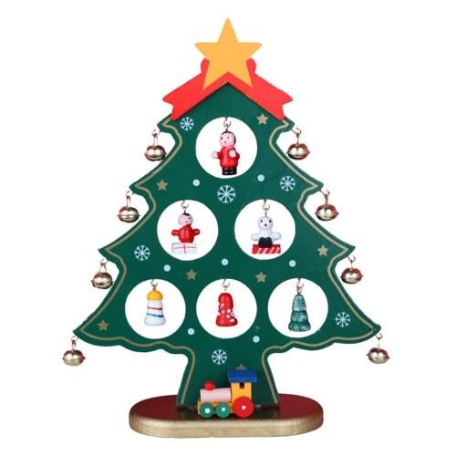 吊り飾り付きの8.66インチのクリスマスツリー