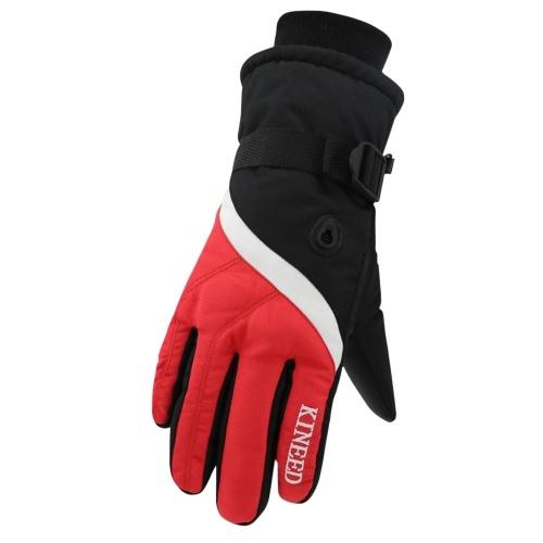 Men Winter Warm Gloves Windproof Waterproof Thermal Ski Gloves