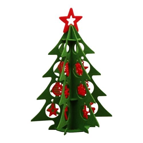 Conjunto de decoración de árbol de Navidad de fieltro