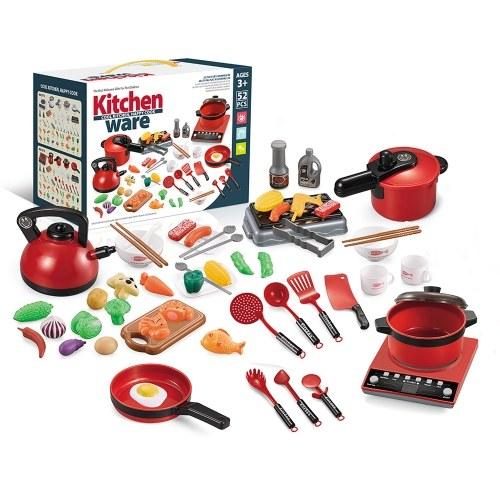 52PCS Kitchen Play Toy Kids Pretend Playset