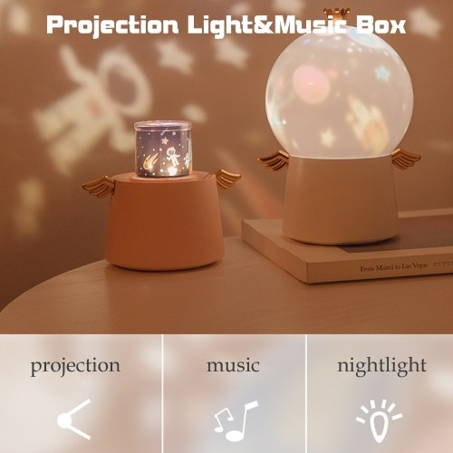 Projector Music Box Night Light Projector Starry Sky Light