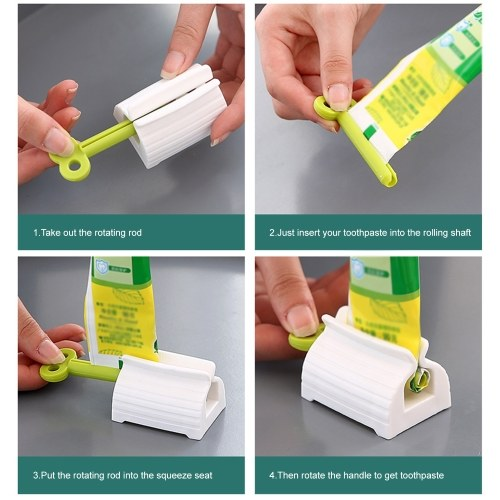 Rolling Tube Toothpaste Squeezer Vertical Toothpaste Seat