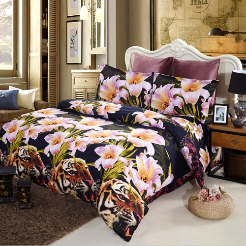 4pcs 3D Printed Bedding Set Bedclothes