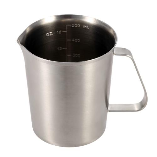 500ML leche jarra jarra leche espuma envase del acero inoxidable taza café cocina herramienta de medición