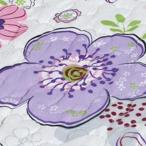 3pcs Bedding Set 230 * 230 CM Primula fiore stampato Pattern poliestere fibra Patchwork Quilt trapunta cuscino casi biancheria Home Textiles