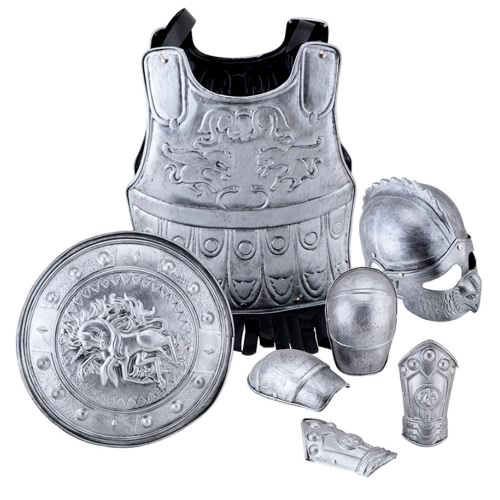 FESTNIGHT Halloween Carnival Kids' Armor Soilder Cosplay Costume Suit Armor Hero Roleplay Costume Children Fancy Dress