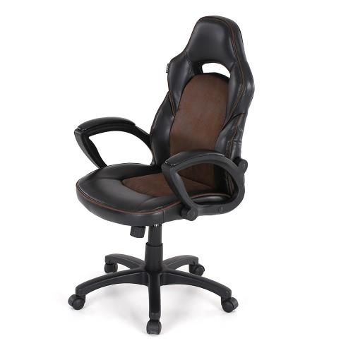 iKayaa Moda PU Leather Racing Style Wykonawczy krzesło biurowe Regulowana 360 ° obrotowy wysokim oparciem Krzesło komputerowe Zadanie biuro projektowe Bucket Seat