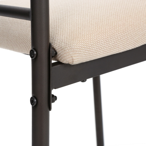 Le sedie della tabella di cucina del pranzo di struttura del metallo di iKayaa 5PCS hanno regolato per la mobilia della cucina di 4 persone 120kg Capacità di carico