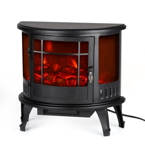 Decdeal Electric Stove Fireplace Free Standing Adjustment Temperature, 1500W, 23