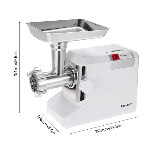 Homgeek 110-240V 1800W 2.6HP Electric Meat Grinder Household & Commercial Sausage Maker Meats Mincer Food Grinding Mincing Machine 3 Speed With 3 Blades