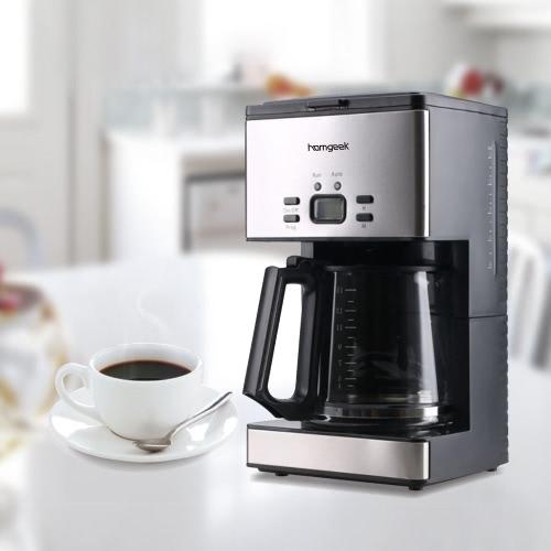 Homgeek 1.8L 15 Cups Programmable Coffeemaker