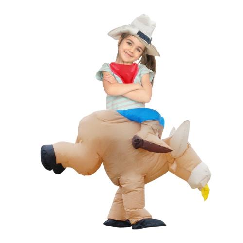 Anself Симпатичные дети Надувные крупного рогатого скота костюм костюм Blow Up Костюмированный фестиваль партии Надувные Bull Outfit Комбинезон Прекрасные Надувные животных Костюм для малышей