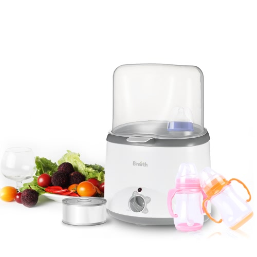 Bimirth Safe BPA-Free Multifunctional Double Baby Bottle Warmer Milk Heater Sterilizer US Plug AC110V-125V