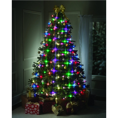 LED String Lights Bulbs Star Shower Festive Christmas Tree Decoration Party Shop Light Show 64 Lamps