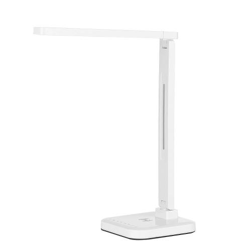 LED Настольная лампа Защита глаз Смарт-настольная лампа Настольная лампа Поддержка Qi Беспроводная зарядка Прикосновение к яркости Цветовая температура Контрольная лампа Складная Поворотная с возможностью затемнения 1,5 А USB-зарядка