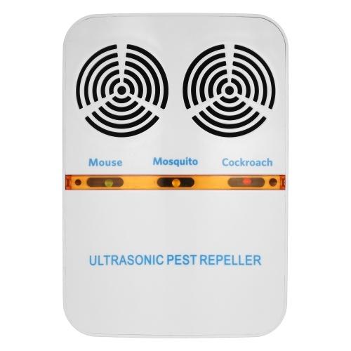 Двойной-Хорн Электромагнитная Ультразвуковая мышь Управление насекомыми Отпугиватель Plug-in Electric Pest Bug Москитный таракановый отпугиватель AC110-230V