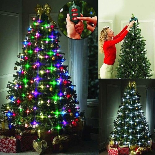 48 Bombillas LED Árbol Dazzler Lámpara Estrella Ducha Árbol de Navidad Luz