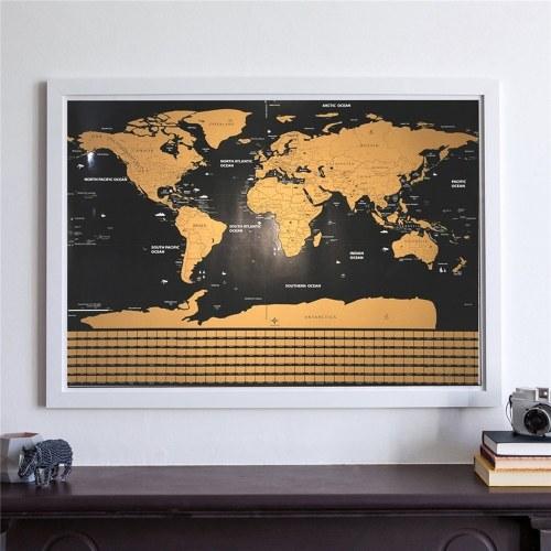 Скретч-карта Интерактивный плакат для отпуска Карты путешествий по миру (42X30)