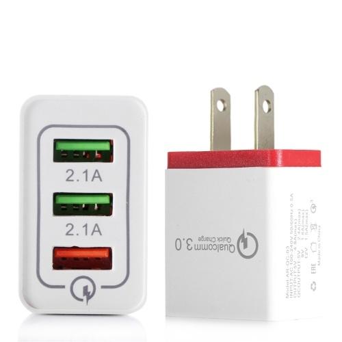 Portable Travel Home Caricatore universale a 3 porte USB