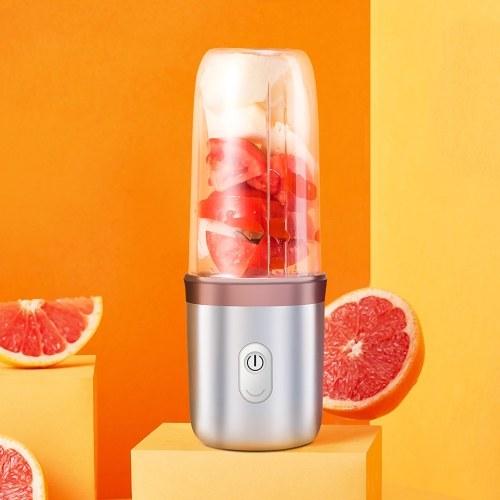 350 мл соковыжималка с USB перезаряжаемым миксером для фруктовых соков и блендером из нержавеющей стали с 4 лезвиями