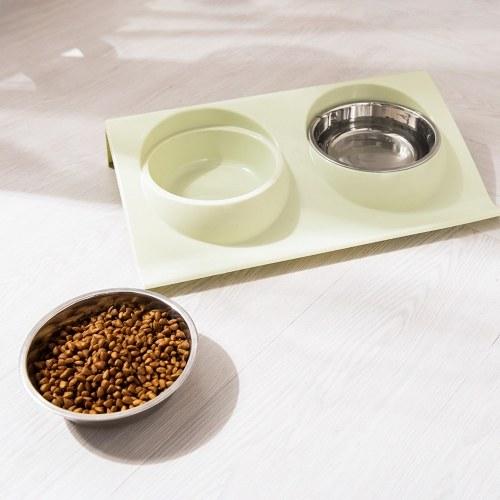 Двойная миска для домашних животных Защита для шеи Миска для кормления домашних животных Миски для кормления домашних животных Миска для защиты шеи для собак фото