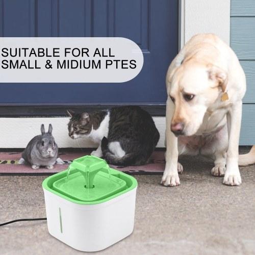Fuente de agua para mascotas Boquilla cuadrada UV Esterilice el dispensador de bebidas de protección de apagado con ventana de nivel de agua clara