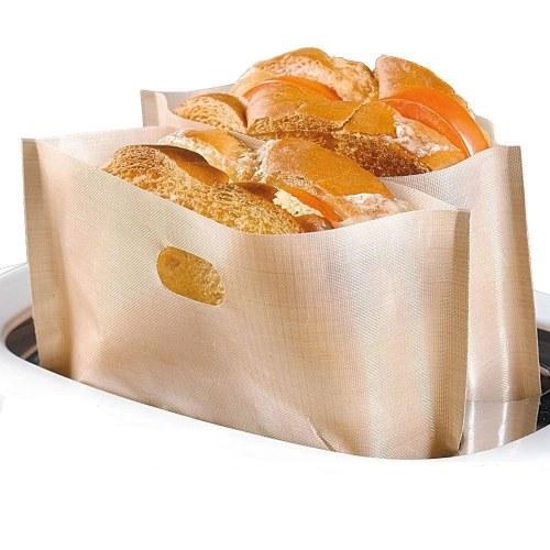 Torradeira Bolsa Resistente ao Calor Reutilizável Antiaderente PTFE Bolsa para Pão de Queijo Grelhado