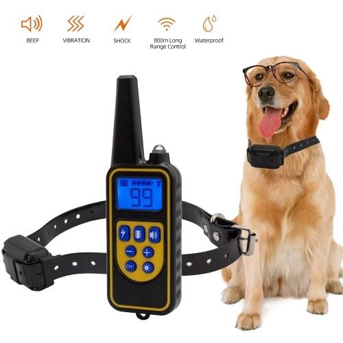 Collar de perro contra la corteza Collar ajustable recargable e impermeable Bip de vibración Collar de entrenamiento de choque para perros pequeños, medianos, grandes