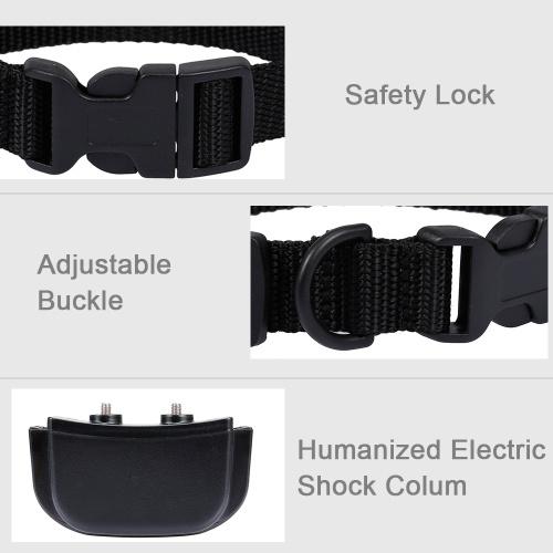 Ошейник для дрессировки собак Перезаряжаемый ошейник для собак Shock ошейник с 4 режимами тренировки Звуковой сигнал Вибрационный шок Диапазон 300 м 100 уровней Электронный ошейник для собак фото