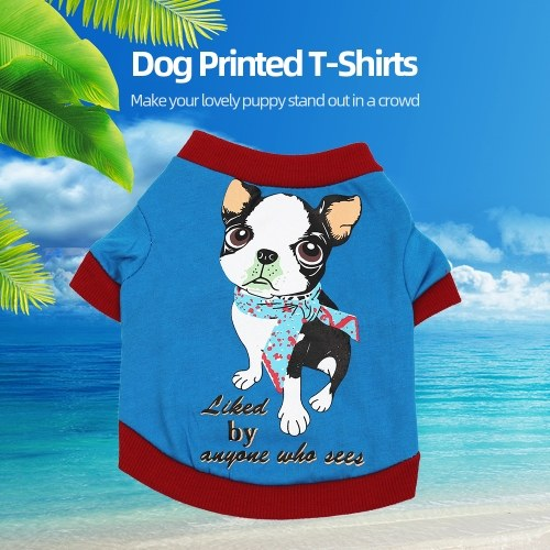 Pet Clothes Dog Shirts Dog T-Shirts Printed Pet Vest Shirt Pet Spring Summer Clothes for Small Dogs Cats