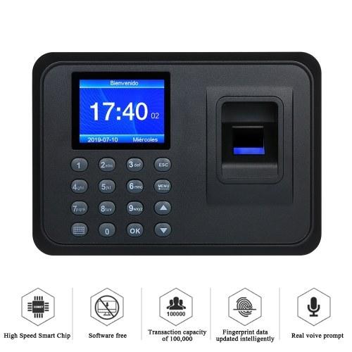 """Máquina de comparecimento de impressão digital biométrica 2.4 """"TFT LCD sem software"""