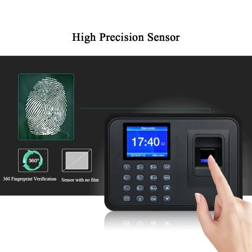 "Biometric Fingerprint Attendance Machine Software-free 2.4"" TFT LCD Display"
