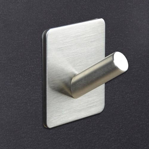 MYD-1016 Adhesive Hooks Towel Hooks Self Adhesive Hooks Stainless Steel Stick Hooks Hanging Towel Stands for Bath Kitchen Garage