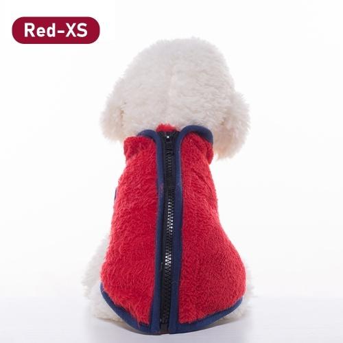 Warm Fleece Dog Pet Vest Jacket Chaqueta de invierno con cuello alto Ropa con cremallera para perros pequeños medianos grandes
