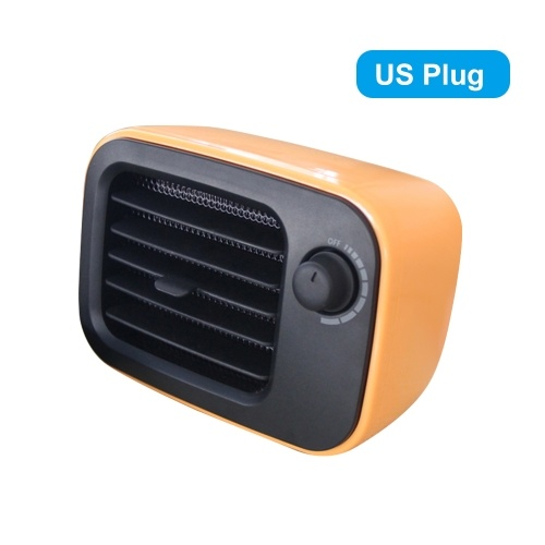 Calentador de cerámica PTC Mini Calentador de temperatura constante portátil Hogar Oficina Dormitorio Calentador de ventilador de ahorro de energía de escritorio con protección contra sobrecalentamiento