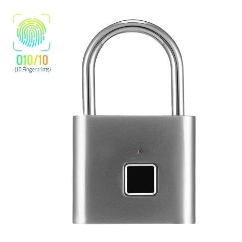 Smart Fingerprint Padlock Small Size Padlock Cabinet Fingerprint Lock Dormitory Anti-theft Lock