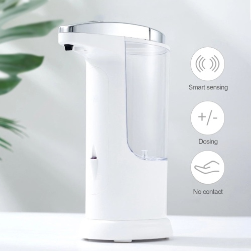 400mL Automatic Soap Dispenser Infrared Hand-free Touchless Soap Dispenser Dish Liquid Lotion No-wash Gel Dispenser Auto Hand Sanitizer Dispenser for Bathroom Kitchen